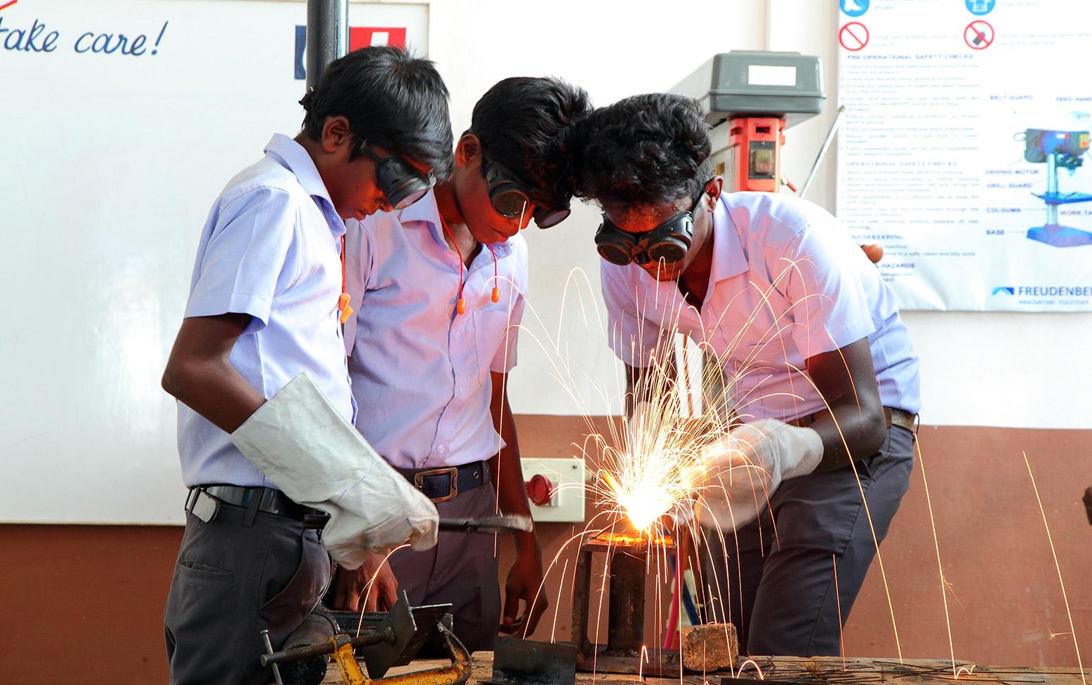 Indian welders at work