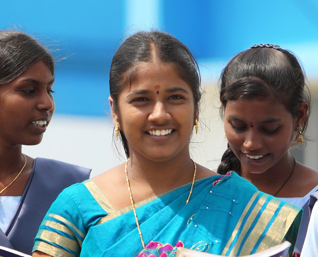 Renuka: female teacher at the Freudenberg Training Centre in India